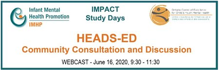 HEADS ED Community Consultation and Discussion WEBCAST