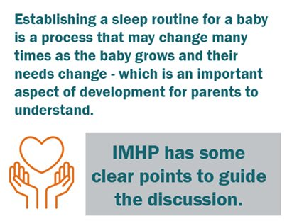 establishing a sleep routine is an important aspect of development